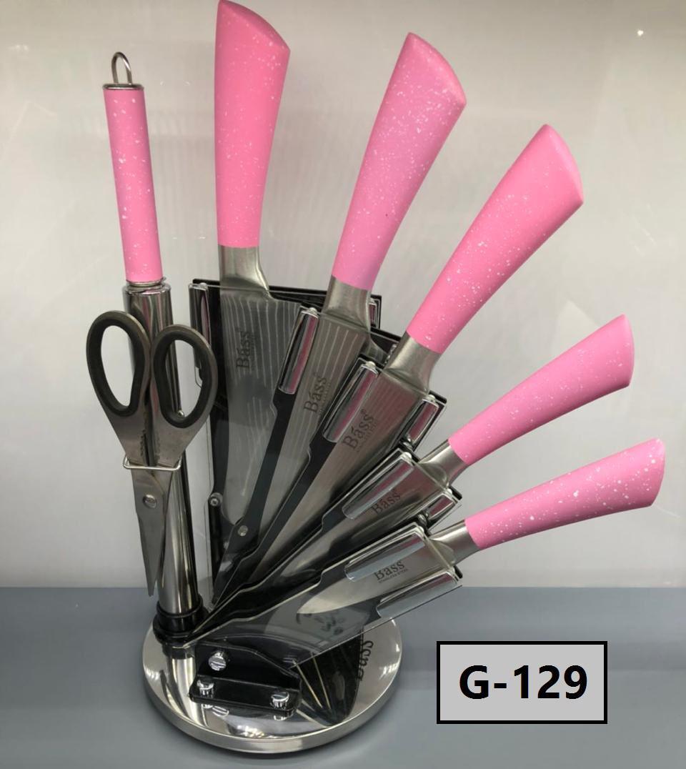 طقم سكاكين 8 قطع bass